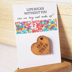 Sorry Gift, Friendship, Girlfriend, Boyfriend, I'm Sorry, I am Sorry, Apology Gift, Hug, Gift for Her, Gift for Him, Miss You, Love you Missing You Love, Love You, Thank You Gifts, Gifts For Him, Apology Gifts, Im Sorry Gifts, Sorry Cards, Cheer Up, Wooden Hearts