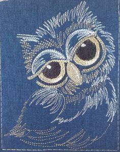 сова, бесплатный дизайн машинной вышивки Owl Embroidery, Hand Embroidery Projects, Sashiko Embroidery, Hand Embroidery Stitches, Cross Stitch Embroidery, Machine Embroidery Designs, Embroidery Patterns, Broderie Simple, Kantha Stitch