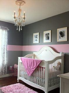 Charlee's Pink and Gray Oasis with a Touch of Antique - Nursery Designs - Decorating Ideas - HGTV Rate My Space