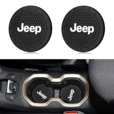 for Jeep Grand Cherokee Wrangler Compass Cherokee Renegade Patriot Grand Comander Decoration Cup Holder,etc All Jeep Models Interesting car 2pcs LED Cup Holder Lights for Jeep