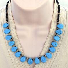 Turquoise Teardrop Princess Necklace from lumibon