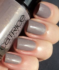"gray with subtle glitter nails - Catrice ""Steel My Soul"""