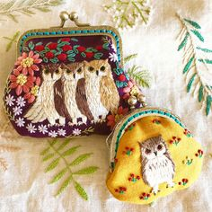My Owl Barn: Embroidered Owl Purses by Japanese Artist - Sale! Up to 75% OFF! Shop at Stylizio for women's and men's designer handbags, luxury sunglasses, watches, jewelry, purses, wallets, clothes, underwear