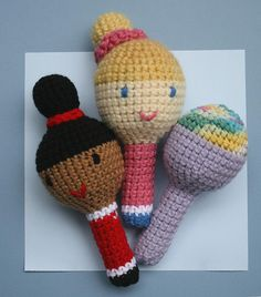Doll rattle group, via Flickr.