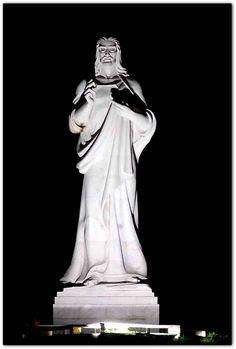 Vista nocturna del Cristo de La Habana. Greek, Statue, Art, Christ, Havana, Nocturne, Art Background, Kunst, Performing Arts
