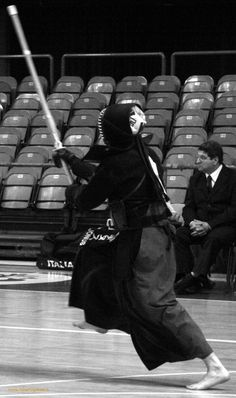 ♂ World martial art Japanese Nazionali Kendo 2010 black & white photo