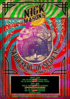 Nick Mason to perform early Pink Floyd with new band Saucerful Of Secrets - Planet Rock Nimes France, Pink Floyd, Concert Tickets, Concert Posters, Music Posters, Secret Live, The Secret, A Saucerful Of Secrets, Gary Kemp