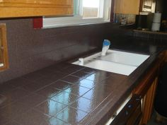 Pkb Reglazing Tile Kitchen Countertop Reglazed Balmorai Red Speckled Counters Painting Countertops