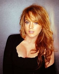 lindsay lohan red hair; I want this color. idc what she's done, this bitch has got some great hair