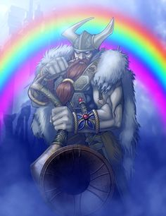 Another picture for Myths and Legends. Heimdall, o el chico del arcoiris. Thor, Loki, Asgard Marvel, Viking Berserker, Norse Religion, Pokemon, Celtic Warriors, Norse Symbols, Asatru