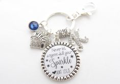 Family Love Between Aunt And Niece Infinity Pendant KeyChain Keyring Key Ring