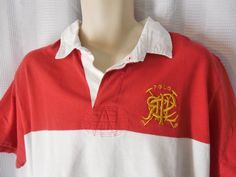 POLO RALPH LAUREN Rugby/Polo Shirt Sz XXL custom fit color block red/white/blue #PoloRalphLauren #PoloRugby