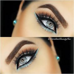 How to make your eyeliner stay on all day? Eyeliner is one of the essential items that should be in your makeup bag as it works in conjunction with your mascara to create large, beautiful eyes that st. Makeup Hacks, Makeup Goals, Love Makeup, Makeup Inspo, Makeup Inspiration, Makeup Tips, Beauty Makeup, Makeup Ideas, Makeup Tutorials