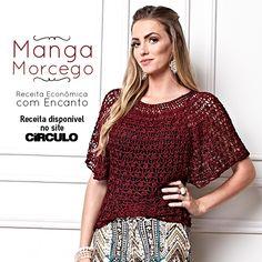 6cc8b861e2b9 A blusa de mangas morcego é uma peça fresquinha e encantadora. Confira a  receita clicando