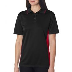 8406L  UltraClub Ladies' Cool & Dry Sport Two-Tone Polo Shirt. Buy at wholesale price.