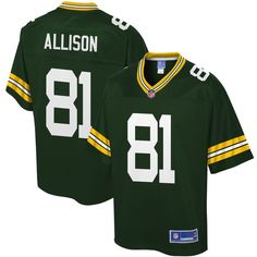 ea2940b6b Geronimo Allison Green Bay Packers NFL Pro Line Youth Player Jersey - Green