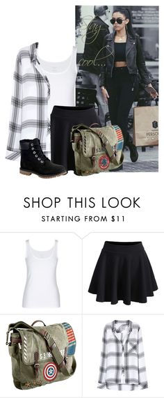 """""""Shopping witth Madison Beer :)"""" by aliciastylinson ❤ liked on Polyvore featuring WithChic, Marvel, Rails and Timberland"""