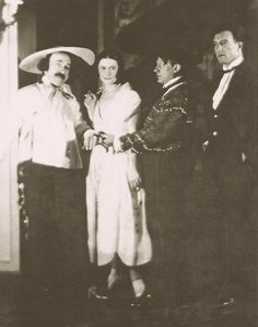 Ricardo Viñes, Olga Picasso, Picasso and painter Manolo Ortiz Angeles to a ball of Count Etienne de Beaumont, 1924