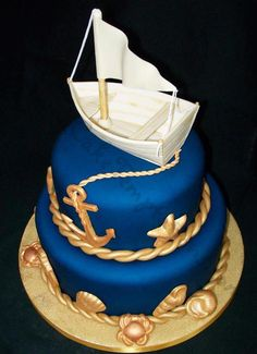 Nautical Royal blue and gold