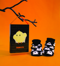 Trick or Treat, Smell My Feet! Just arrived at MommyGear.com. Baby Halloween Socks from Trumpette!