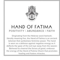 In SEARCH OF - Hand of Fatima