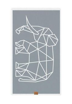 ELEPHANT beach towel - geometric animal patterns on gorgeous 100% cotton towels. also perfect for yoga!