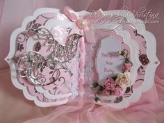 baby girl card by Christina Griffiths