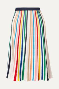 J.Crew | Striped stretch-knit skirt | NET-A-PORTER.COM Knit Skirt, Tie Dye Skirt, Preppy Trends, J Crew Skirt, Ancient Greek Sandals, Striped Knit, Fashion 2020, Street Style Women, Knitting