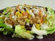 BBQ Chicken Salad with Creamy Cilantro Lime Dressing. My fav dressing!