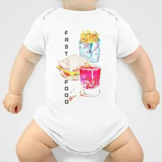 Fast food Onesie by LoRo  Art & Pictures - $20.00