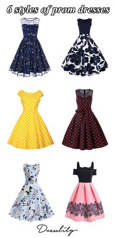6 styles of prom dresses.What to wear on party.Click picture to view more dresses. Cheap Vintage Clothing, 1940s Vintage Dresses, Vintage Dress Patterns, Retro Outfits, Vintage Outfits, Retro Fashion, Vintage Fashion, Valentines Day Dresses, Black Cocktail Dress