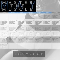 Master the Muscle May Workout Challenge