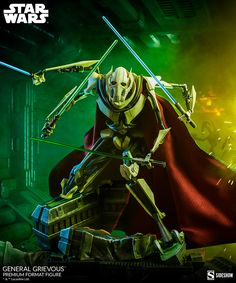 General Grievous™ Premium Format™ Figure | Sideshow Collectibles Sideshow Star Wars, Star Wars Characters, Fictional Characters, Star Wars Collection, Sideshow Collectibles, Love Painting, Clone Wars, Darth Vader, Sith