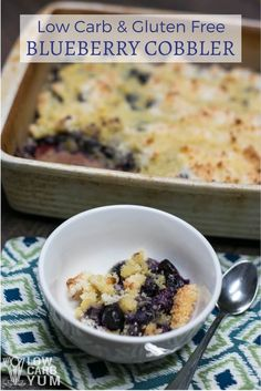 Low carb gluten free blueberry cobbler
