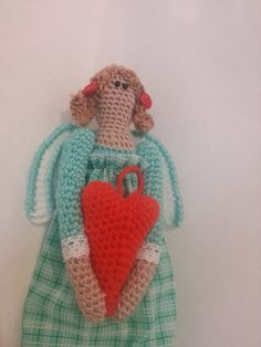 Tilda Angel Handmade Crocheted Doll, Amigurumi by Floristo4ka on Etsy