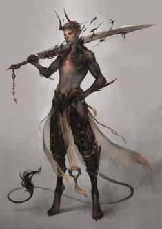 len-yan:  dusk daemon by len-yan