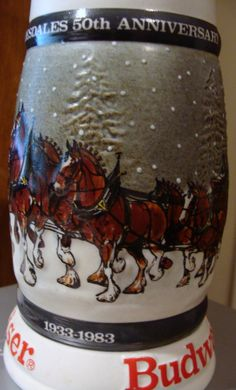 Clydesdales 50th Anniversary Budweiser Stein by neilsellers, $34.99