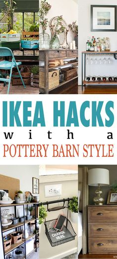 IKEA Hacks with Pottery Barn Style.  You get the Fixer Upper Farmhouse look on the cheap! Pottery Barn Style, Cool Store, Ikea Hack, Home Projects, Diy, Furniture, Home Decor, Build Your Own, Homemade Home Decor