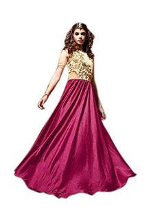 Shoppingover Indian Bollywood Party Wear Dress in Satin F... https://www.amazon.com/dp/B01LX0KVFS/ref=cm_sw_r_pi_dp_x_FDG.xb5W5NNT6