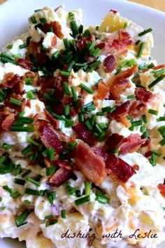 Must try this.. should be good with BBQ...Loaded Baked Potato Salad