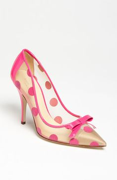 pink polka dot pumps