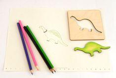 Dinosauři – magnetky se šablonkou | DomDom - dřevěné výrobky pro kreativní činnost, didaktické pomůcky, suvenýry