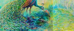 Colorful Oil Finger Paintings