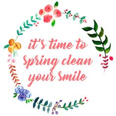 Happy first day of spring! It's that time of year again: spring cleaning. If you haven't had one of your semiannual dental cleanings yet this year, call us today to schedule your appointment!