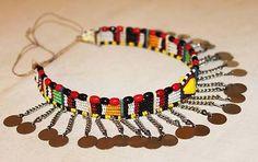 3 of 3: AFRICAN MAASAI MASAI BEADED ETHNIC TRIBAL CHOKER NECKLACE JEWELRY - MARA #20