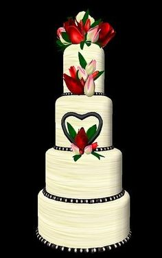 #Red #Wedding #Cake ideas … #Budget wedding #ideas for brides, grooms, parents & planners ... https://itunes.apple.com/us/app/the-gold-wedding-planner/id498112599?ls=1=8 ♥ The Gold Wedding Planner iPhone #App ♥ plus tips on how to have a dream wedding, within any budget.