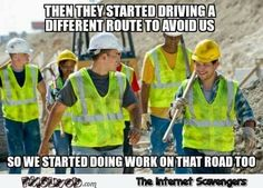Funny pictures about Any Road Trip.Or Big City. Oh, and cool pics about Any Road Trip.Or Big City. Also, Any Road Trip.Or Big City photos. Funny Photos, Best Funny Pictures, Construction Humor, Morning Humor, That Way, Funny Jokes, Car Jokes, Funny Humour, Laughter