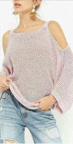 Crochet Blouse – Tutorial, Ideas and Patterns – Creatividad – Join in the world of pin Pull Crochet, Mode Crochet, Knit Crochet, Blouse Au Crochet, Gilet Crochet, Knit Poncho, Knitting Patterns, Crochet Patterns, Crochet Ideas
