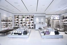 Charles & Keith opens flagship store at Bonifacio High Street Retail Shelving, Retail Store Design, Store Interiors, Retail Interior, Closet Designs, Retail Space, Shop Interior Design, White Shop, Boutique
