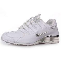 Nike Shox NZ White/Metallic Silver Men Shoes 1023 For $57.90 Go To:  http://www.cheapnikeshoxmart.com